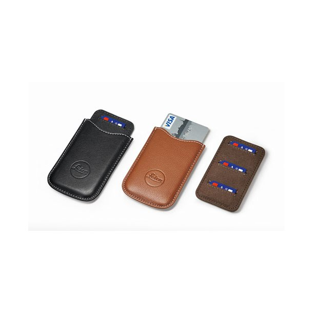 LEICA SD og kreditkort holder i cognac læder